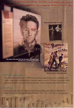 Fundraising Brochure, Courtesy of Woody Guthrie Foundation and Archives